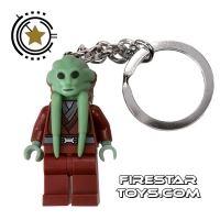 Product shot LEGO Key Chain - Star Wars - Kit Fisto