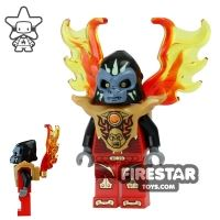 Product shot LEGO Legends of Chima Mini Figure - Gorzan with Flame Wing Armour
