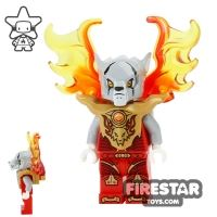 Product shot LEGO Legends of Chima Mini Figure - Worriz - Flame Wings