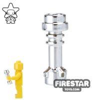 Product shot LEGO Lightsaber - Hilt - Chrome Silver