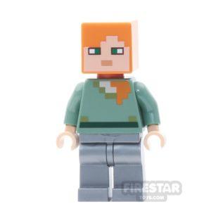 Product shot LEGO Minecraft Mini Figure - Villager - Reddish Brown Top