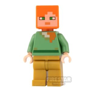 Product shot LEGO Minecraft Mini Figure - Alex - Pearl Gold Legs