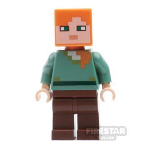 Product shot LEGO Minecraft Mini Figure - Alex - Reddish Brown Legs