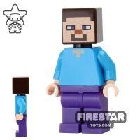 Product shot LEGO Minecraft Mini Figure - Steve - Dark Purple Legs