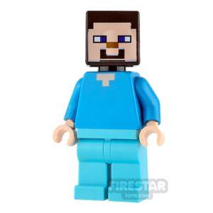Product shot LEGO Minecraft Mini Figure - Steve - Medium Azure Legs