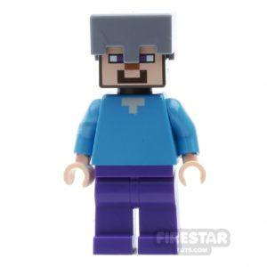 Product shot LEGO Minecraft Mini Figure - Steve with Helmet