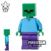 Product shot LEGO Minecraft Mini Figure - Zombie