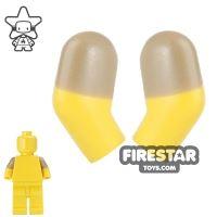 Product shot LEGO Mini Figure Arms - Pair - Dark Tan Short Sleeves
