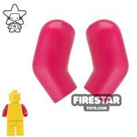 Product shot LEGO Mini Figure Arms - Pair - Magenta