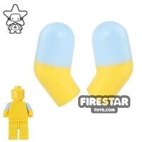 Product shot LEGO Mini Figure Arms - Pair - Medium Blue Short Sleeves