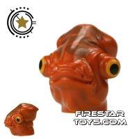 Product shot LEGO Mini Figure Heads - Admiral Ackbar