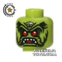 Product shot LEGO Mini Figure Heads - Alien Avenger