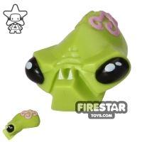 Product shot LEGO Mini Figure Heads - Alien Head - Fangs