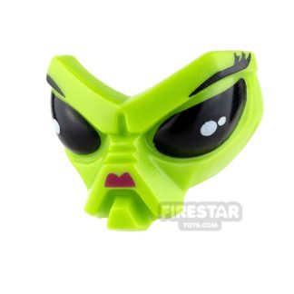 Product shot LEGO Mini Figure Heads - Alien Head - Magenta Nose