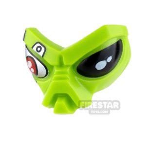 Product shot LEGO Mini Figure Heads - Alien Head - Red Mechanical Eye