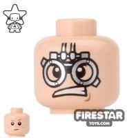Product shot LEGO Mini Figure Heads - Anakin - Podracer Goggles