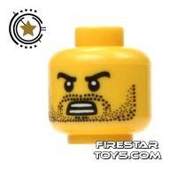 Product shot LEGO Mini Figure Heads - Angry Bared Teeth