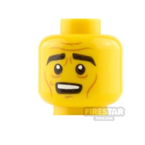 Product shot LEGO Mini Figure Heads - Angry and Nervous