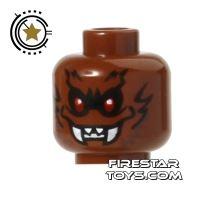 Product shot LEGO Mini Figure Heads - Bat Monster