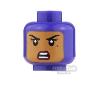 Product shot LEGO Mini Figure Heads - Batgirl - Winking / Angry