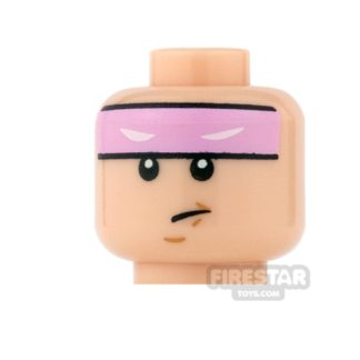Product shot LEGO Mini Figure Heads - Batman - Bright Pink Headband
