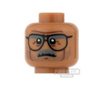 Product shot LEGO Mini Figure Heads - Batman - Commissioner Gordon