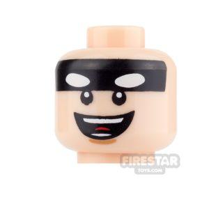 Product shot LEGO Mini Figure Heads - Batman - Grin
