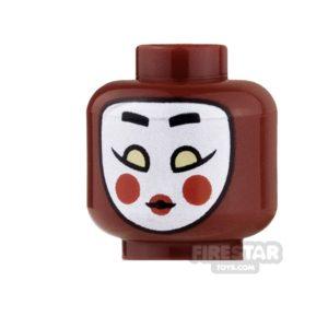 Product shot LEGO Mini Figure Heads - Batman - Kabuki Twin