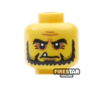 Product shot LEGO Mini Figure Heads - Beard and Pointed Tooth