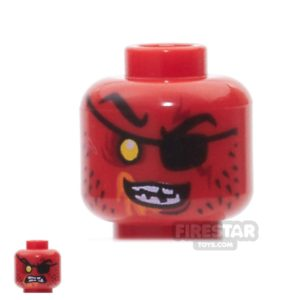 Product shot LEGO Mini Figure Heads - Beast Master