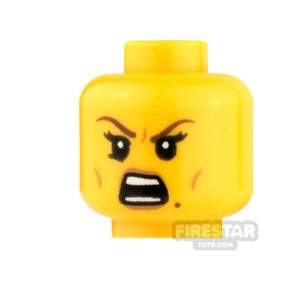 Product shot LEGO Mini Figure Heads - Beauty Mark