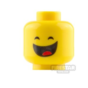 Product shot LEGO Mini Figure Heads - Benny - Grin and Frown