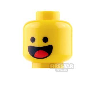 Product shot LEGO Mini Figure Heads - Benny - Smile and Scared
