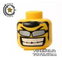 Product shot LEGO Mini Figure Heads - Big Grin And Glasses