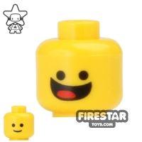 Product shot LEGO Mini Figure Heads - Big Open Grin