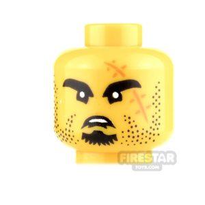 Product shot LEGO Mini Figure Heads - Black Eyebrows