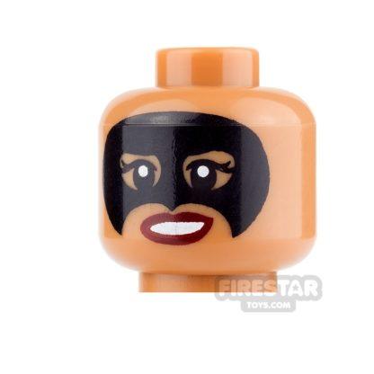 Product shot LEGO Mini Figure Heads - Black Mask and Smile/Bared Teeth