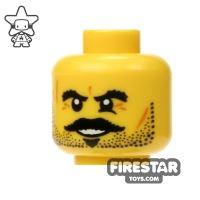 Product shot LEGO Mini Figure Heads - Black Moustache and Eyebrows