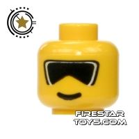 Product shot LEGO Mini Figure Heads - Black Ski Goggles