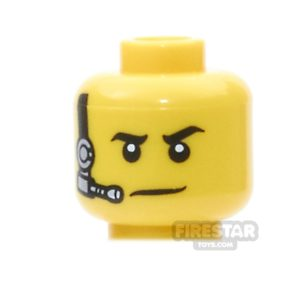 Product shot LEGO Mini Figure Heads - Black and Silver Headset