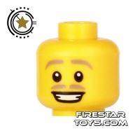 Product shot LEGO Mini Figure Heads - Blonde Moustache - Smile