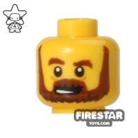 Product shot LEGO Mini Figure Heads - Brown Beard