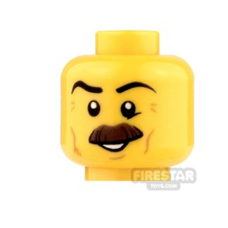 Product shot LEGO Mini Figure Heads - Bushy Moustache and Cheek Lines