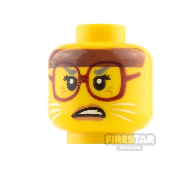 Product shot LEGO Mini Figure Heads Cat Whiskers