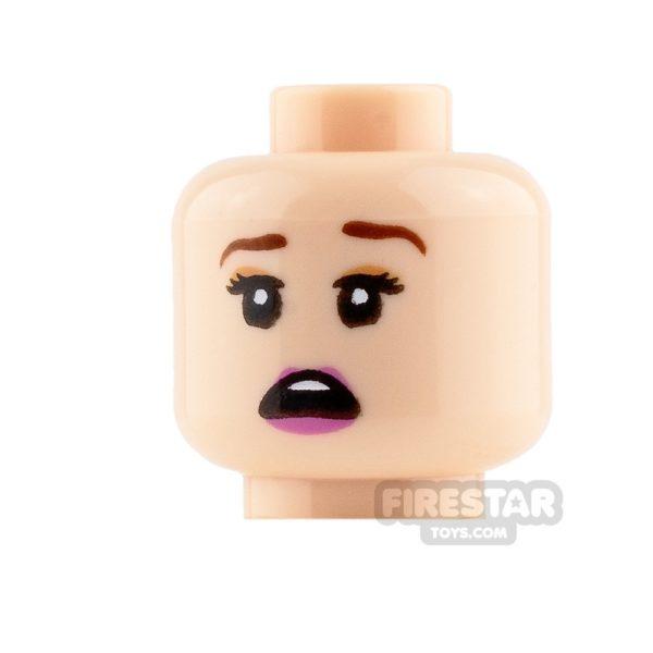 Product shot LEGO Mini Figure Heads - Closed Eyes Smile and Scared