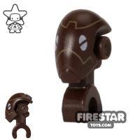 Product shot LEGO Mini Figure Heads - Commando Droid - Dark Brown