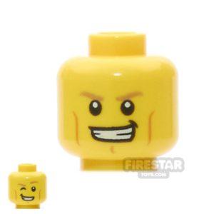 Product shot LEGO Mini Figure Heads -  Dark Tan Eyebrows