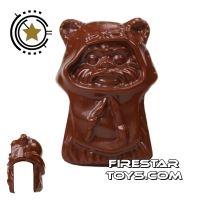 Product shot LEGO Mini Figure Heads - Ewok - Reddish Brown