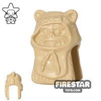 Product shot LEGO Mini Figure Heads - Ewok - Tan