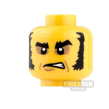 Product shot LEGO Mini Figure Heads - Eyeshadow and Muttonchops